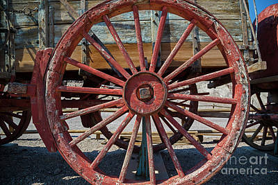 Photograph - Wagon Wheel by Jim West