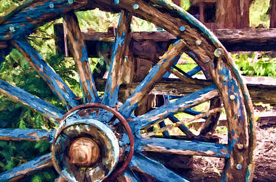 Sturgeon Digital Art - Wagon Wheel by John K Woodruff