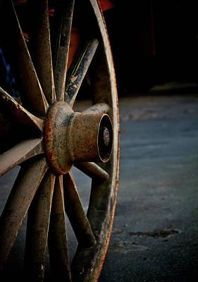 Wooden Wheels Photograph - Wagon Wheel by Odd Jeppesen