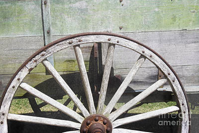 Photograph - Wagon Wheel - Old West Trail N832 by Ella Kaye Dickey