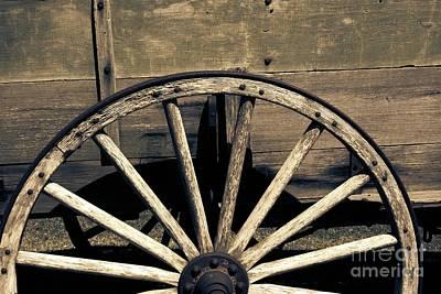 Photograph - Wagon Wheel - Old West Trail N832 Sepia by Ella Kaye Dickey