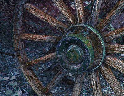 Wagon Wheel Art Print by Stuart Turnbull
