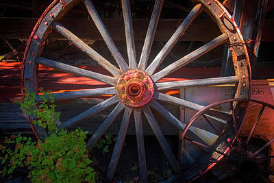 Photograph - Wagon Wheel by Tom Singleton