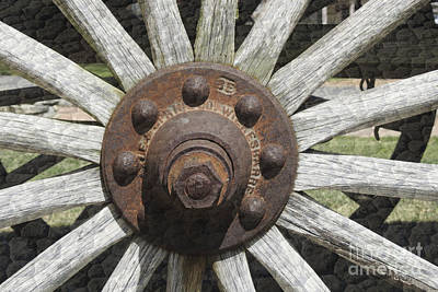 Photograph - Wagon Wheel - Vintage Old West Trail N835 by Ella Kaye Dickey