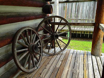 Photograph - Wagon Wheels by Denise Mazzocco