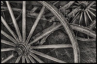 Photograph - Wagon Wheels Detail Mackinac Island by Roger Passman