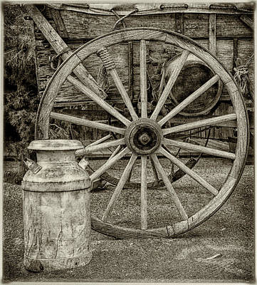 Photograph - Wagon Wheels by Elaine Malott