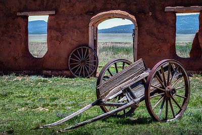 Photograph - Wagon Wheels by James Barber