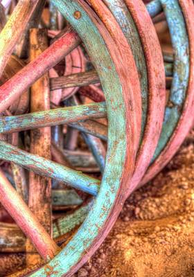 Jerry Sodorff Royalty-Free and Rights-Managed Images - Wagon Wheels by Jerry Sodorff