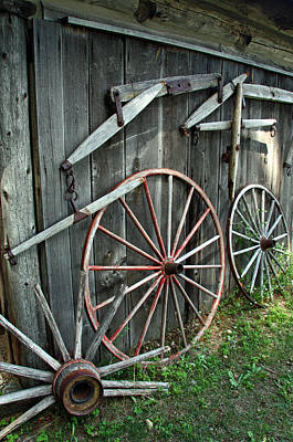 Art Print featuring the photograph Wagon Wheels by Joanne Coyle