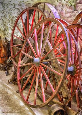 Photograph - Wagon Wheels by LeeAnn McLaneGoetz McLaneGoetzStudioLLCcom