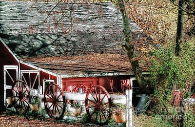 Photograph - Wagon Wheels by Nicki McManus