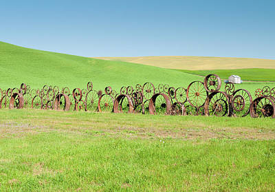 Photograph - Wagon Wheels Stacked Palouse Washington by James Hammond