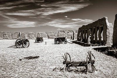 Photograph - Wagon Yard Sepia by James Barber