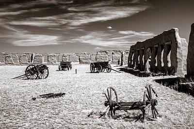 Photograph - Wagon Yard Sepia by James Barber