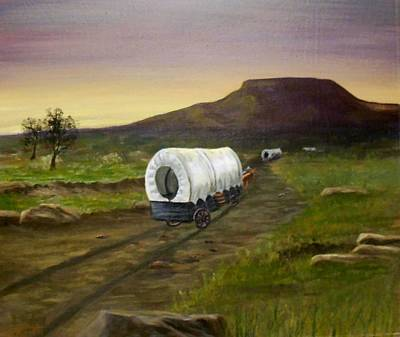 Painting - Wagons West by Sheri Keith