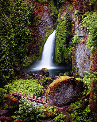 Photograph - Wahclella Falls by Jerome Obille