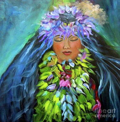 Painting - Wahine 1 by Jenny Lee