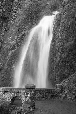 Photograph - Wahkenna Falls With Path Black And White  by John McGraw