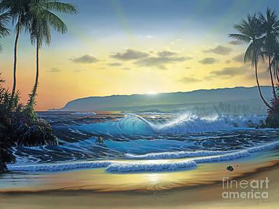 Full Moon Painting - Waialua Daybreak by Al Hogue
