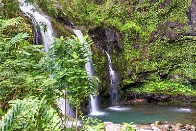 Photograph - Waikani Falls by Nadine Berg