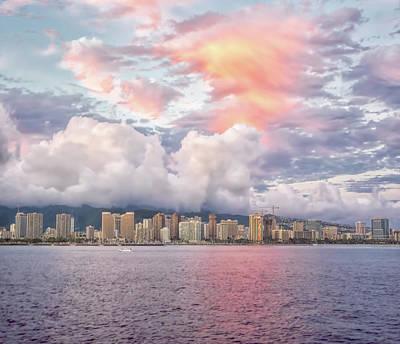 Wall Art - Photograph - Waikiki Beach Sunset by Martin Belan