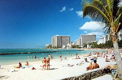 Photograph - Waikiki Beach by Will Borden