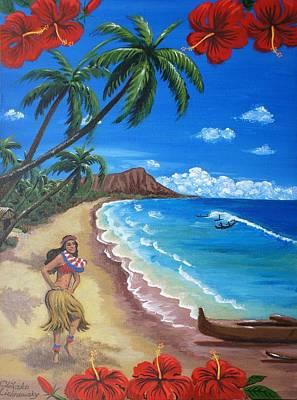 Painting - Waikiki by Chikako Hashimoto Lichnowsky