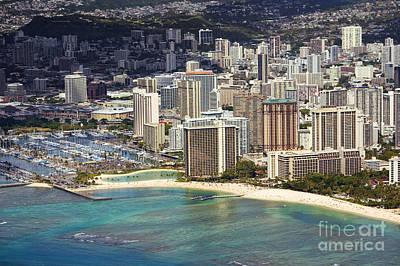 Waikiki From Above Art Print