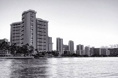 Photograph - Waikiki In Black And White by Jenny Hudson