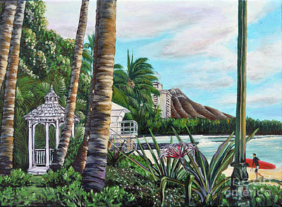 Painting - Waikiki by Larry Geyrozaga
