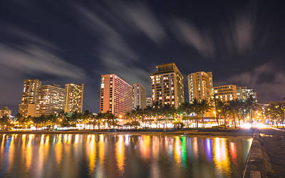 Photograph - Waikiki Nights by Brian Governale