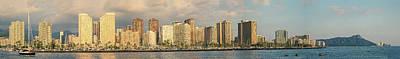 Photograph - Waikiki Panorama 1 by Leigh Anne Meeks