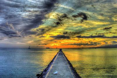 Photograph - Waikiki Pier Waikiki Beach Honolulu Hawaii Collection Art by Reid Callaway