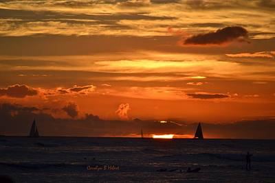 Wall Art - Photograph - Waikiki Sunset by Carolyn Hebert