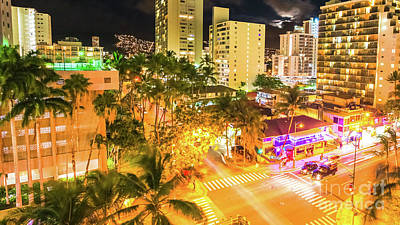 Photograph - Waikiki Traffic Aerial View by Benny Marty