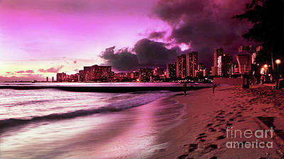 Photograph - Waikiki Twilight by Kristine Merc