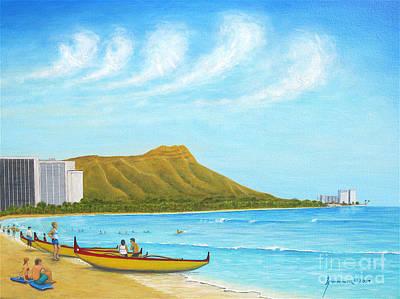 Waikiki Wonder Art Print by Jerome Stumphauzer