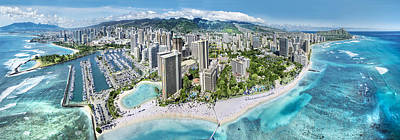 Diamond Head Photograph - Waikiki Wonderland by Sean Davey
