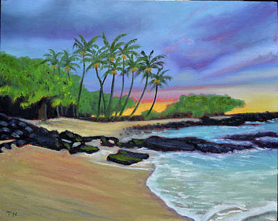 Painting - Waikoloa Sunset by Thu Nguyen