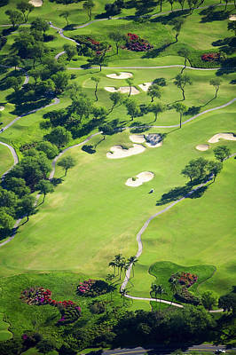 Wailea Gold And Emerald Courses Art Print by Ron Dahlquist - Printscapes