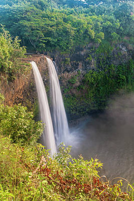 Photograph - Wailua Falls - Kauai Hawaii by Brian Harig