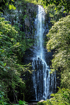Photograph - Wailua Falls Vertical by Kelley King