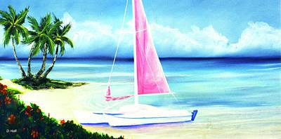 Waimanalo Beach #187 Art Print by Donald k Hall