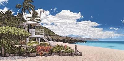 Waimea Bay Lifeguard Tower Original by Andrew Palmer