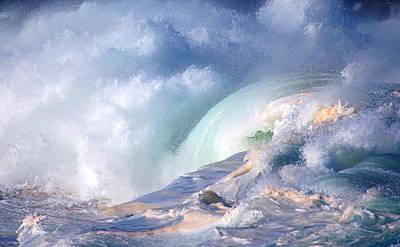 Waimea Bay Shorebreak Art Print
