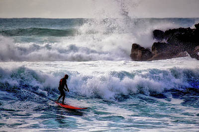 Photograph - Waimea Bay Surfer by Jim Albritton