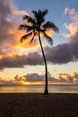 Waimea Beach Sunset 2 - Oahu Hawaii Art Print