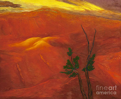 Dramatic Lighting Painting - Waimea Canyon by Fay Biegun - Printscapes