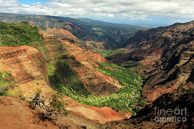 Photograph - Waimea Canyon From The West by James Eddy